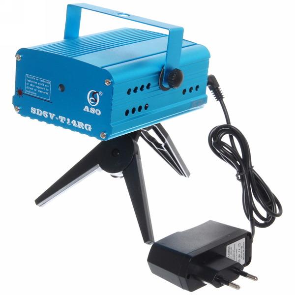 Световой прибор Лазер SD5V12VT14RG смайлик купить оптом и в розницу