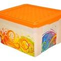 Ящик для хранения Optima Брызги 12 л*4 купить оптом и в розницу