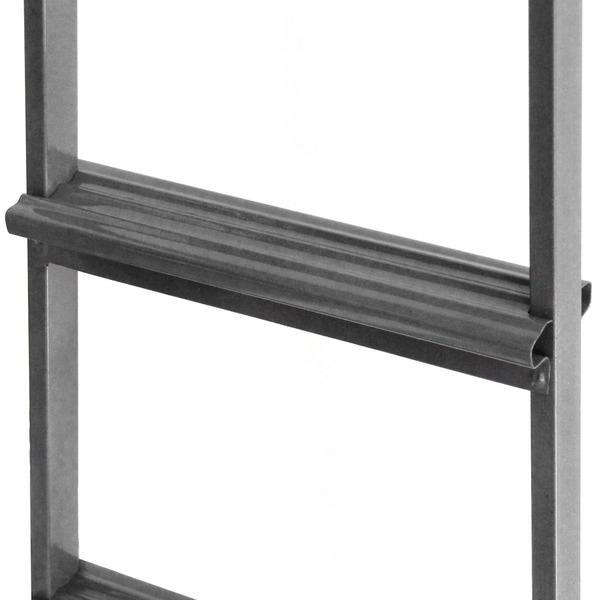 Лестница приставная металическая 6 ступеней, высота 175 см, шаг ступени 27 см, вес 4,3 кг купить оптом и в розницу
