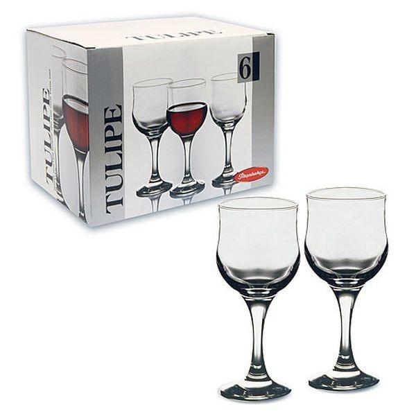 """Набор фужеров д/красного вина """"ТУЛИП"""" 6 шт. 240 мл. (1/4) купить оптом и в розницу"""