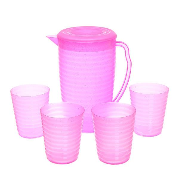 Набор питьевой 5 предметов: кувшин 1,8л, 4 стакана (1) купить оптом и в розницу