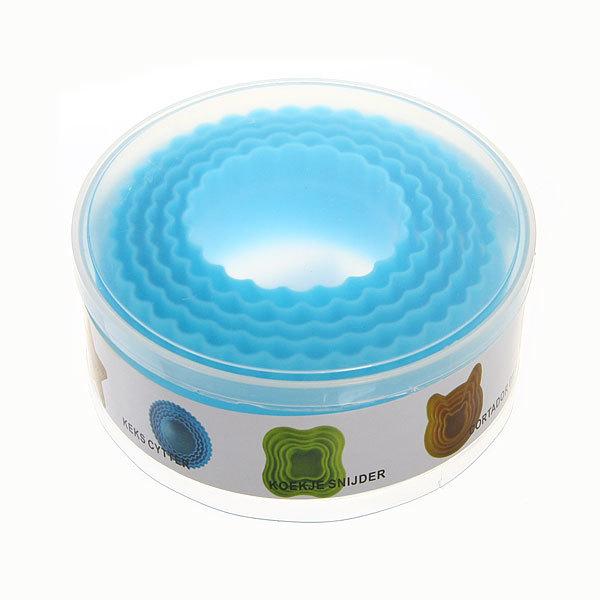 Форма для печенья 5шт ″Круг″в пластиковой коробке купить оптом и в розницу