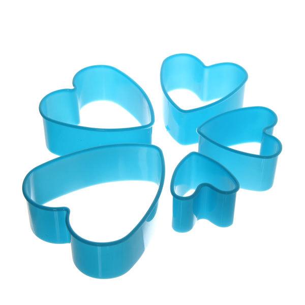 Форма для печенья 5шт ″Сердце″в пластиковой коробке купить оптом и в розницу