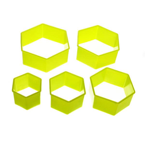 Форма для печенья 5шт ″Многоугольник″в пластиковой коробке купить оптом и в розницу