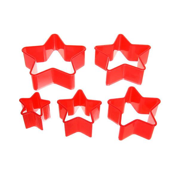 Форма для печенья 5шт ″Звезда″в пластиковой коробке купить оптом и в розницу