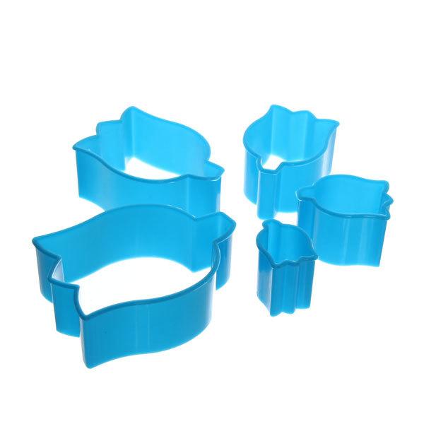 Форма для печенья 5шт ″Цветок″в пластиковой коробке купить оптом и в розницу