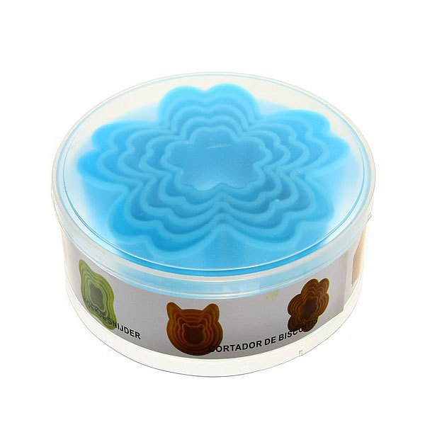Форма для печенья 5шт ″Тюльпан″в пластиковой коробке купить оптом и в розницу