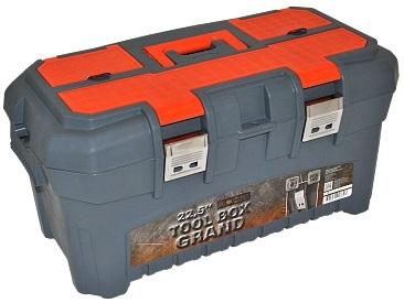 """Ящик для инструментов GRAND SOLID 22,5"""" серо-свинцовый/оранжевый *4 купить оптом и в розницу"""