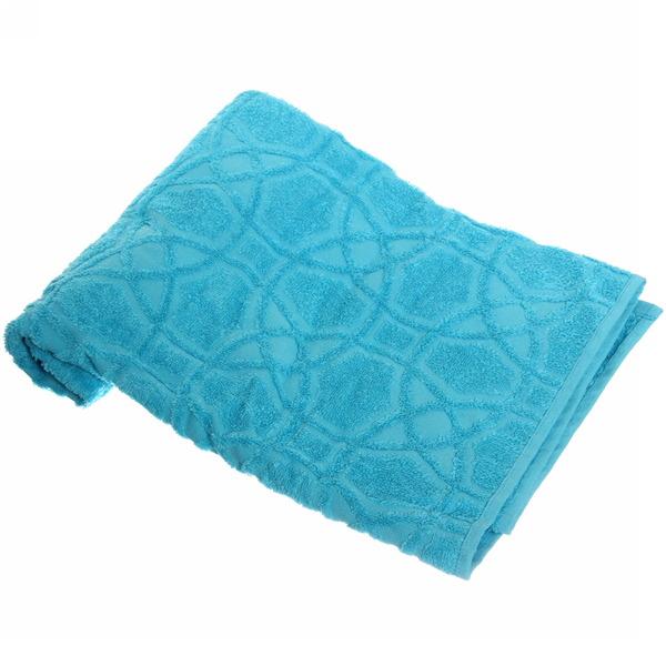 Махровое полотенце 50*100см средний бирюзовый жаккард ЖК100-2-008-006 купить оптом и в розницу