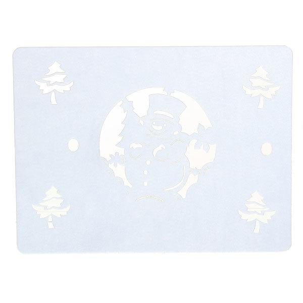 Салфетка на стол 40*30см ″Снеговик″, фетр купить оптом и в розницу