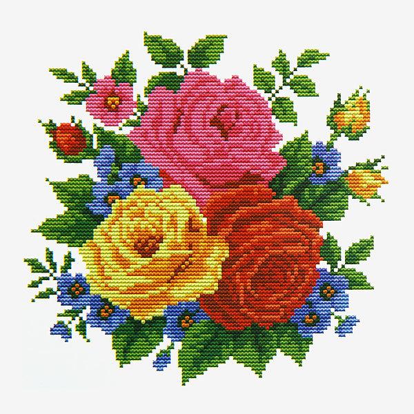 Набор для вышивания 26*20,5см Розы 3203 купить оптом и в розницу