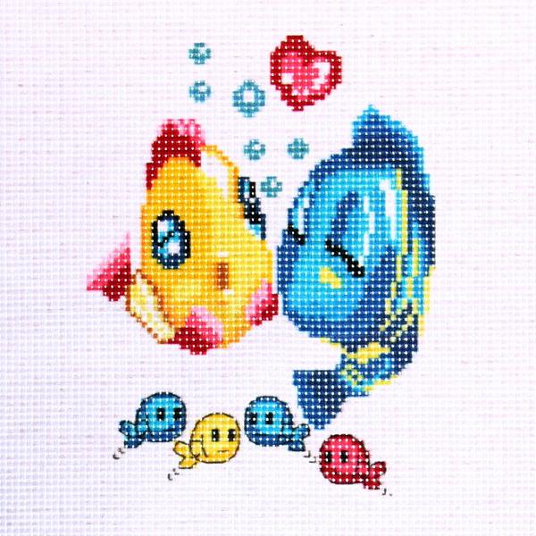 Набор для вышивания 26*20,5см Рыбки 3227 купить оптом и в розницу