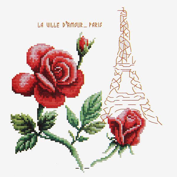 Набор для вышивания 26*20,5см Париж 3220 купить оптом и в розницу