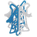 Ёлочная игрушка подвеска 23*20см ″Колокольчик двойной блестящий″ купить оптом и в розницу