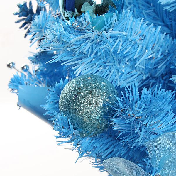 Елка искусственная 76см с украшениями голубой C-12714 купить оптом и в розницу