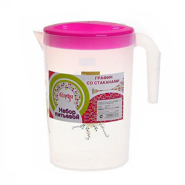 Набор питьевой 5 предметов ″Цветочный микс″: кувшин 1,5л, 4 стакана купить оптом и в розницу