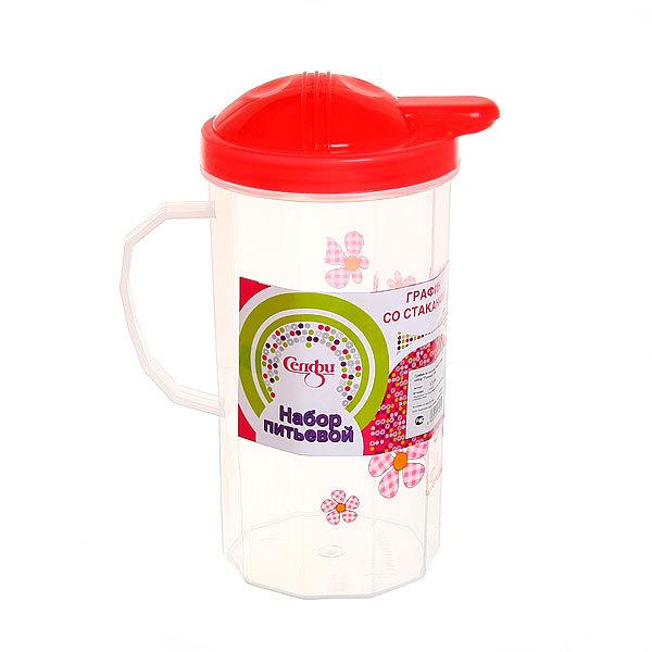 Набор питьевой 5 предметов ″Полянка″: кувшин 1л, 4 стакана (1) купить оптом и в розницу