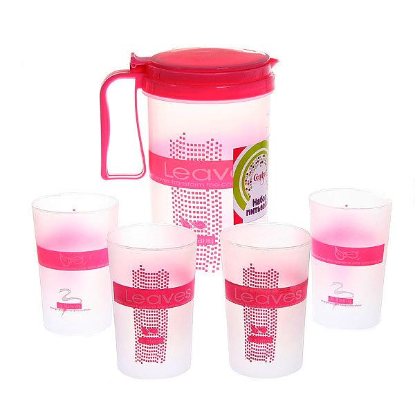 Набор питьевой 5 предметов ″Дача″: кувшин 1,5л, 4 стакана купить оптом и в розницу