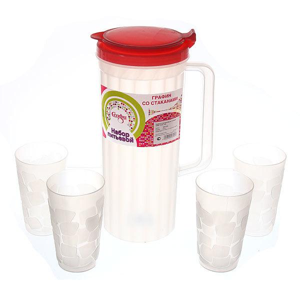 Набор питьевой 5 предметов ″Стиль″: кувшин 2л, 4 стакана купить оптом и в розницу