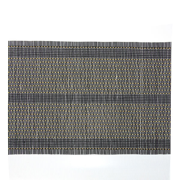 Салфетка на стол 45*30см бамбуковая Плетение черная купить оптом и в розницу