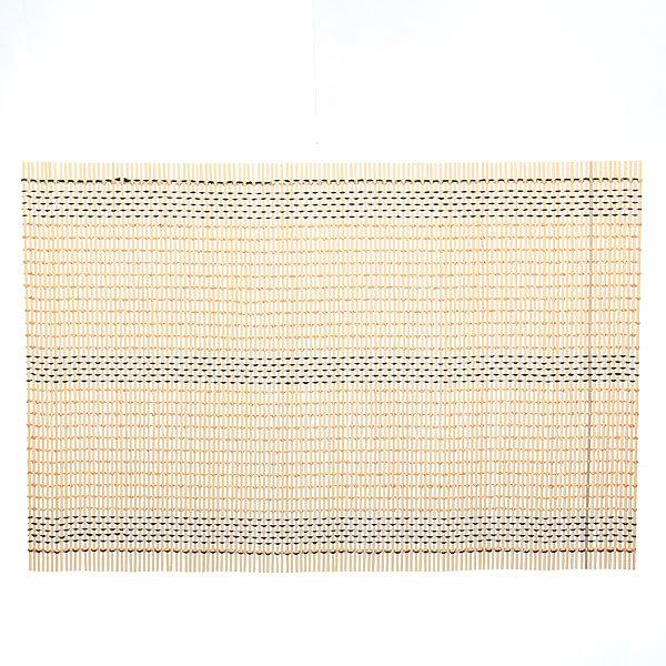 Салфетка на стол 45*30см бамбуковая Плетение желтая АВ купить оптом и в розницу