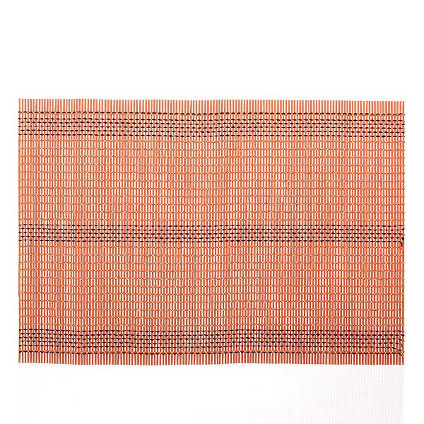 Салфетка на стол 45*30см бамбуковая Плетение оранжевая купить оптом и в розницу