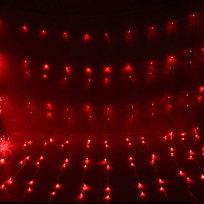 Занавес светодиодный ш 2 * в 3м, 480 ламп LED, Красный, 8 реж, прозр.пров. купить оптом и в розницу
