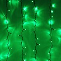 Занавес светодиодный уличный ш 2 * в 3м, 432 лампы LED,″Дождь″, Зеленый, 8 реж, черн.пров купить оптом и в розницу