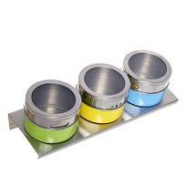 Набор для специй на магните 3 шт MT-3FO1 цветной купить оптом и в розницу