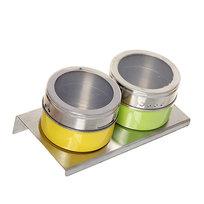 Набор для специй на магните 2 шт MT-2FO1 цветной купить оптом и в розницу