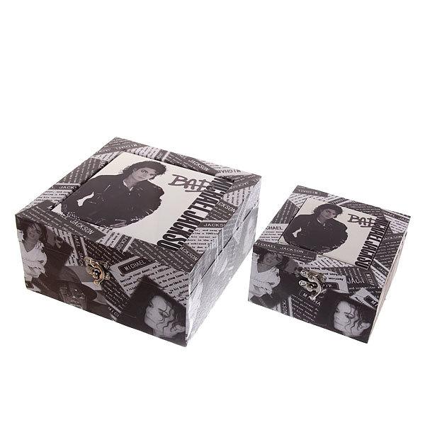 Шкатулка ″Celebrity Майкл Джексон″ (набор 2шт) дерево FX 7012D купить оптом и в розницу