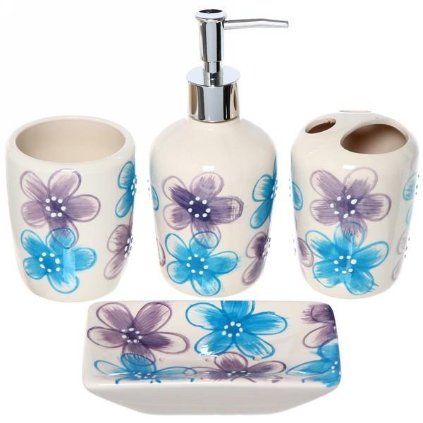 Набор для ванной из 4-х предметов керамический 29501-27 купить оптом и в розницу