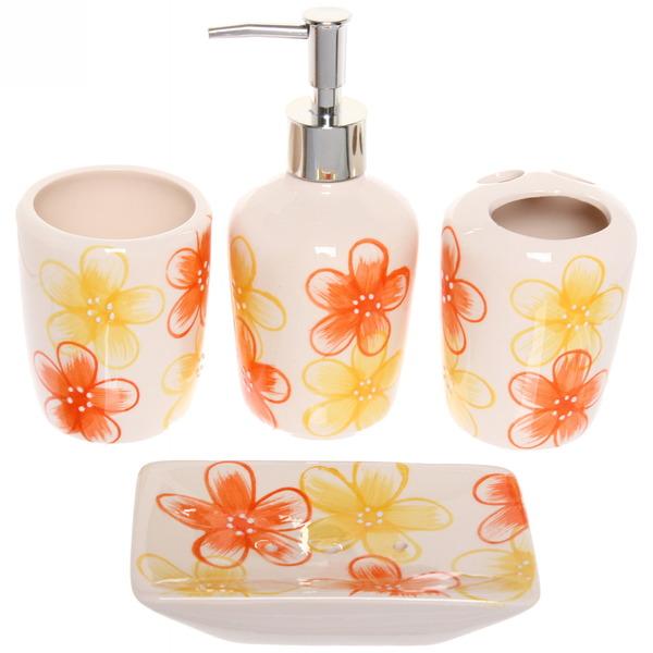 Набор для ванной из 4-х предметов керамический 29501-26 купить оптом и в розницу