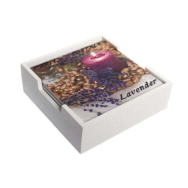Подставка декоративная 10,5*10,5 см в наборе 6 шт Лаванда купить оптом и в розницу