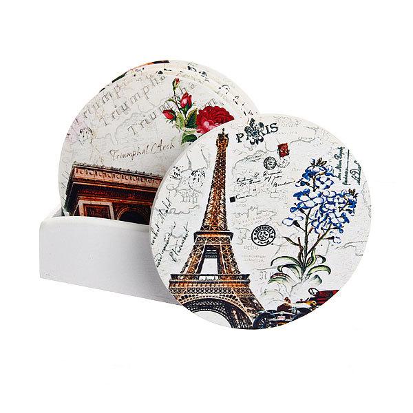 Подставка декоративная 10,5 см в наборе 6 шт Париж купить оптом и в розницу