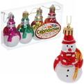 Ёлочные игрушки, набор 4шт, 7,5*4см ″Снеговичок с метлой″ купить оптом и в розницу