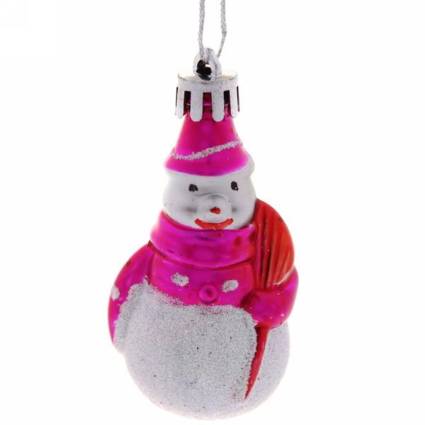 Ёлочные игрушки ″Снеговичок с метлой″ 7,5*4см (набор 4шт) купить оптом и в розницу