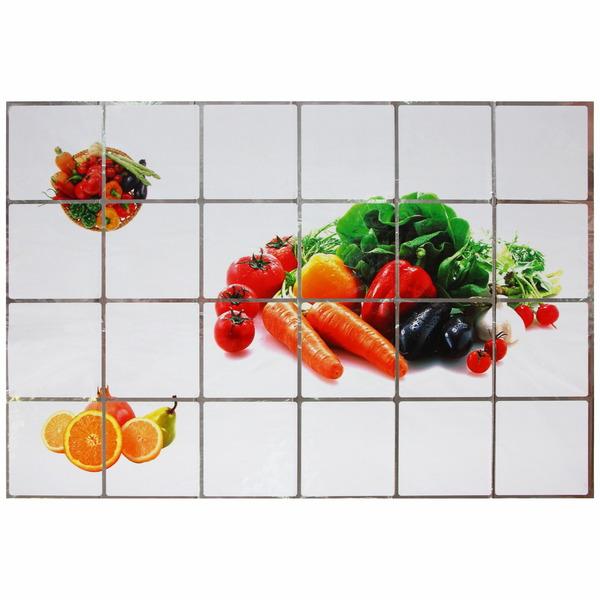 Защитная пленка-стикер 60*90см овощи на белом фоне купить оптом и в розницу