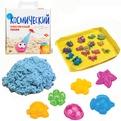 Набор ДТ Космический песок Голубой 2 кг. песочница и формочки кор. купить оптом и в розницу