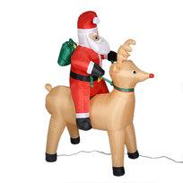 Фигура надувная ″Дед Мороз на олене″ 1,2 м купить оптом и в розницу