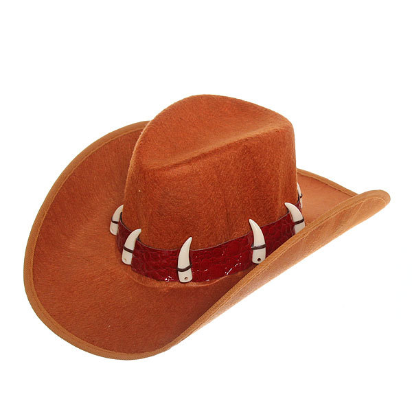 Шляпа карнавальная ″Ковбой Данди″ коричневая купить оптом и в розницу