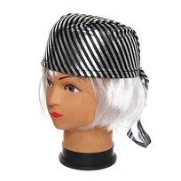 Шляпа карнавальная ″Бандана″ серебрянная полоска 1624-7 купить оптом и в розницу