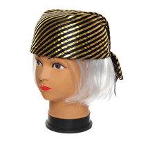 Шляпа карнавальная ″Бандана″ золотая полоска 1624-8 купить оптом и в розницу
