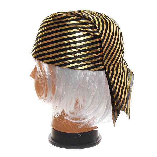 Шляпа-бандана карнавальная ″Пират″ золотая полоска купить оптом и в розницу
