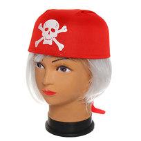 Шляпа карнавальная ″Бандана красная″ 1624-9 купить оптом и в розницу