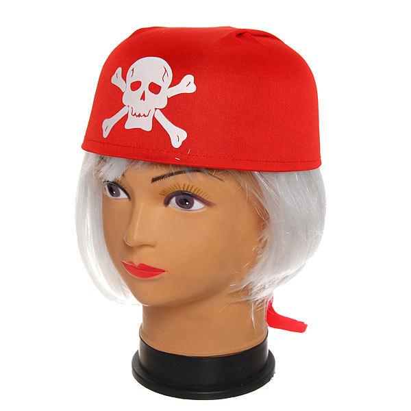 Шляпа-бандана карнавальная ″Пират″ красная купить оптом и в розницу