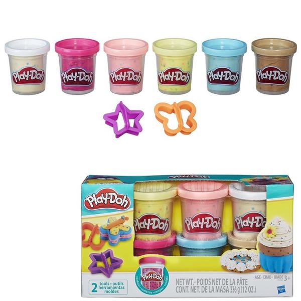 Play-Doh Набор Пластилин 6 шт. с конфети. В3423 купить оптом и в розницу