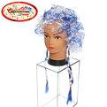 Парик карнавальный ″Мадам Помпадур″ бело-голубой купить оптом и в розницу