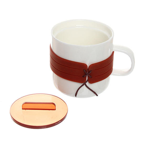 Кружка керамическая с пластиковой крышкой 250мл ″Жилетка″ купить оптом и в розницу