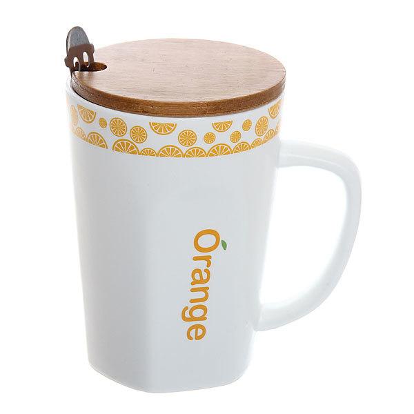 Кружка керамическая с бамбуковой крышкой 350мл ″Чай″ купить оптом и в розницу